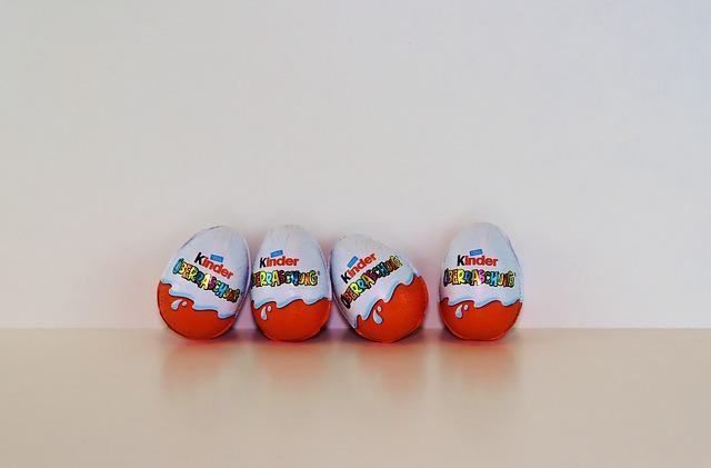 Cztery jajka kinder niespodzianki to spory dodatek kaloryczny